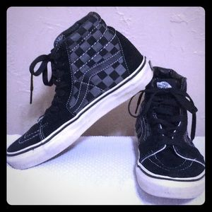 Vans Off The Wall black & grey checkered high tops